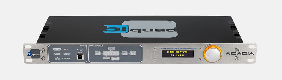 BIQUAD Acadia, RDS/RBDS, DSP, USB, RS-232, OLED, MPX, Quick Message, 1 UR