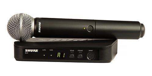"SHURE BLX24/B58, Micrófono transmisor inalámbrico, H10 542-572 MHz, XLR, 1/4"""