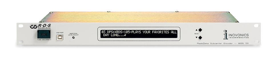 INOVONICS 720, RDS/RBDS, Pantalla LCD, USB y RS-232, MPX, NRSC, BNC, 1UR