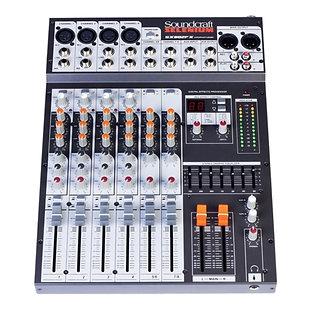 SOUNDCRAFT SX 802 FX USB, Consola Mezcladora Audio, 12CH, 8Mic, Faders 6