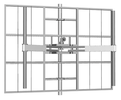 RYMSA AT12-221, Panel FM 2 dipolos, Pol. Vertical, 2.5Kw, DIN7/16, Galv.
