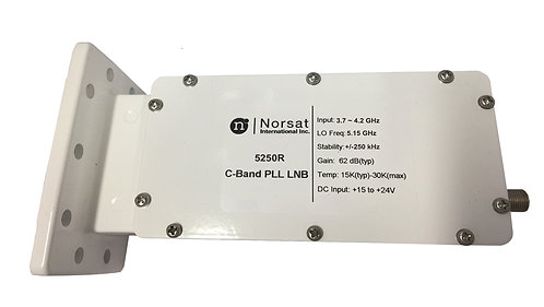 NORSAT 5250F, LNB PLL Banda C, DBV, VSAT, 3.4-4.2 GHz, output 5dBm, 250mA
