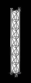 ADVICOM TTTG-40-24, Torre Triangular Tensada 24m, 40x40cm, Tubo, Galvanizada