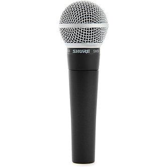 SHURE SM58, Micrófono Dinámico Cardioide, 150 Ohms, 50 Hz-15 KHz, XLR