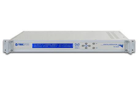 TECSYS TS9500, Modulador Sat, DVB S/S2, QPSK, 8PSK 16APSK, IF/Banda L, 1UR