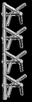 RYMSA 4xAT12-202, Arreglo 4 Antenas FM Dipolo en V, 7.1 dBd, 10kW, Acero Galvan.