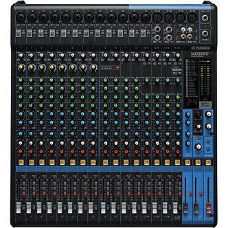 YAMAHA MG20XU, Consola Mezcladora de Audio, 20 CH, 4 AUX, 16 IN MIC, XLR ,USB