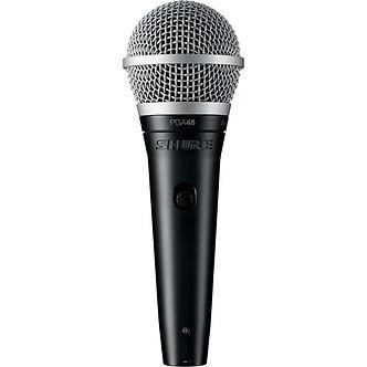 SHURE PGA48, Micrófono vocal dinámico cardioide (sin cable), 70 Hz-15 kHz, XLR