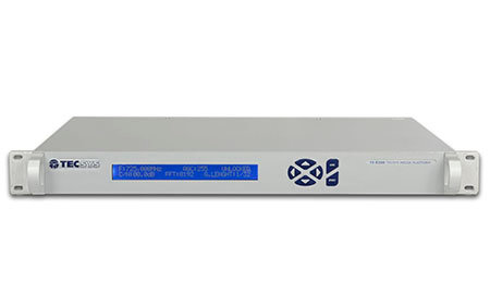 TECSYS TS 8200A, Receptor Satelital, ASI, H.264/MPEG-2, DVB S/S2, CVBS, AES, 1UR