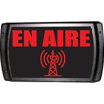 "AMERICAN RECORDER En Aire, Letrero Luminoso ""En Aire"", 20 LEDs, 9 VDC, Caja ABS"