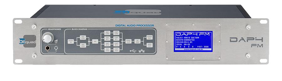 "BIQUAD DAP4 FM, Procesador Audio, Tecnología DSP, 4 Bandas, Pantalla Táctil 3""."