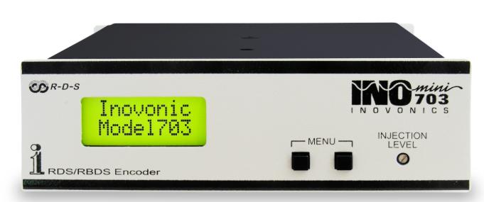 INOVONICS 703INOmini, RDS Básico, LCD display, USB, Scrolling-PS,Radio Text, BNC