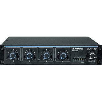 SHURE SCM410, Consola Mezcladora de Audio automática, 4 canales
