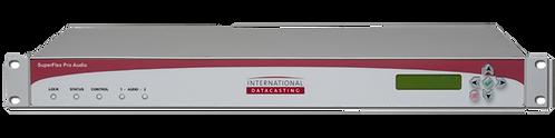 IDC SuperFlex Pro Audio, Receptor Satelital Audio, DVB-S/2, MPEG-1/2/4, AES, 1UR