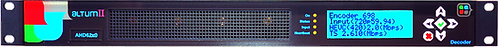 SAPEC Altum II, Decoder Video /Audio, H.264/ MPEG-2, ASI/TSoIP, HD/SD-SDI,AES