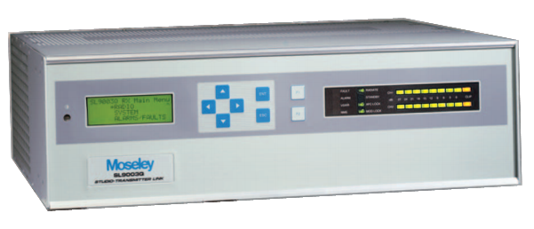 MOSELEY SL9003Q, Enlace Digital STL, QAM, 71 MHz, AES/EBU, MPX, T1/E1, 2UR