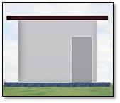 ADVICOM CASCT1, Caseta de Cemento, 3x2.70x2.5 m, 4 columnas,  Protecc. Elect.