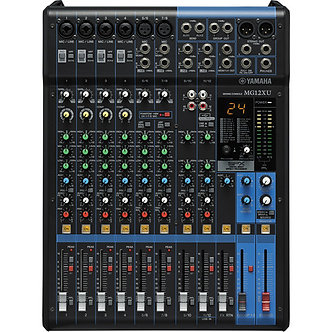 YAMAHA MG12XU, Consola Mezcladora Audio, 12CH, 6 IN MIC., 24presets, 2AUX, USB