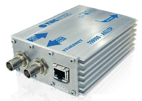 TECSYS TS 9090ASI/IP, Convertidor ASI-IP, 188/204 bytes, ASI, GigE, IPv4/RTP/UDP
