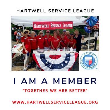 I am a Member Hartwell Service League.pn