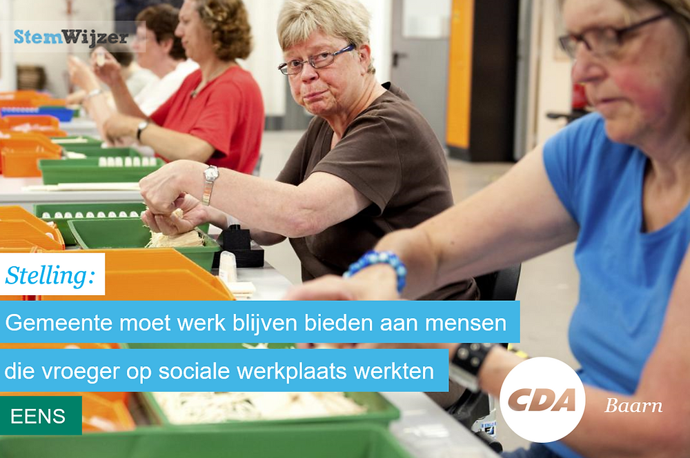 Stemwijzer Baarn over sociale werkplaats