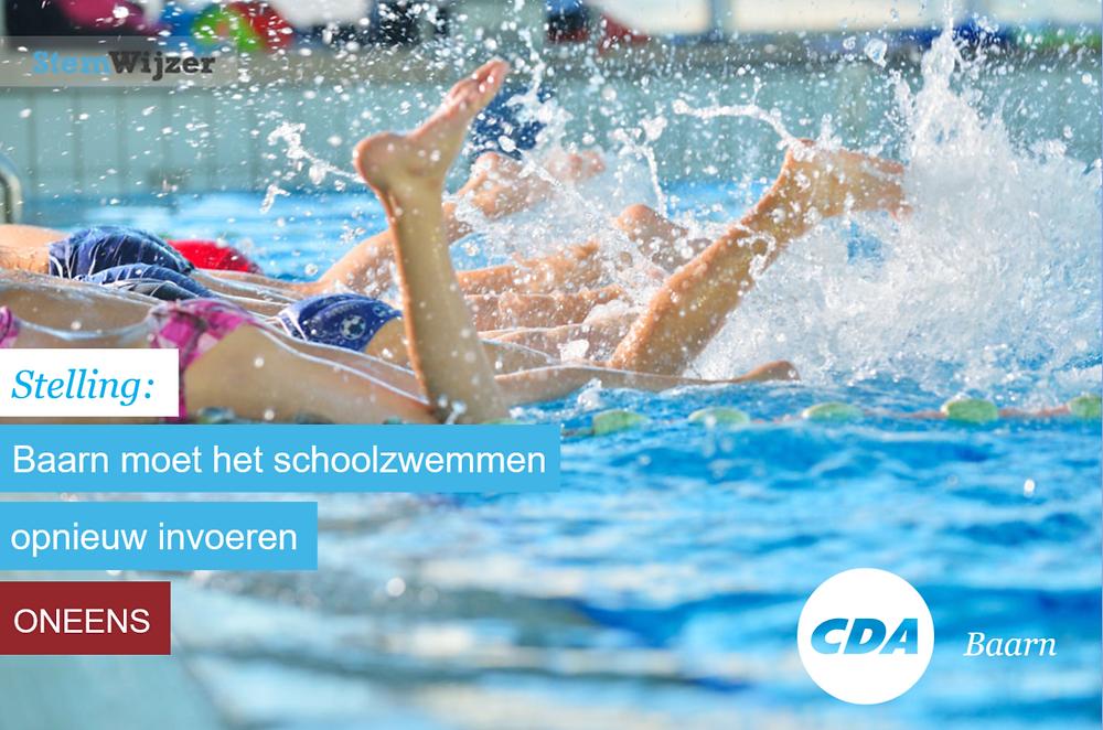 Stemwijzer Baarn over schoolzwemmen