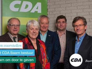 Het bestuur van CDA Baarn