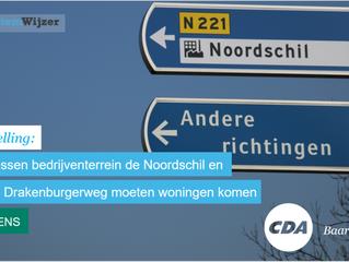 Stemwijzer Baarn stelling: Tussen het bedrijventerrein de Noordschil en de Drakenburgerweg moeten wo