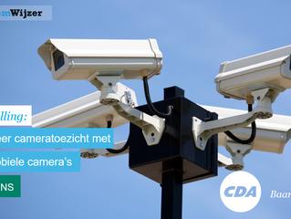 Stemwijzer Baarn stelling:  De gemeente moet meer cameratoezicht inzetten met mobiele camera's.