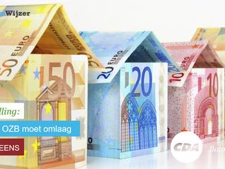 Stemwijzer Baarn stelling:  De onroerendezaakbelasting (ozb) moet omlaag.