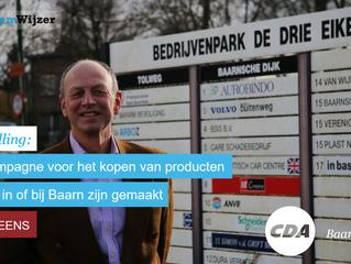 Stemwijzer Baarn stelling: De gemeente moet geld steken in een campagne voor het kopen van producten