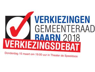 15 maart 2018 verkiezingsdebat in Theater de Speeldoos in Baarn