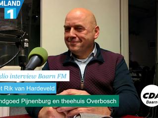 BaarnFM interviewt lijsttrekker Rik van Hardeveld over Landgoed Pijnenburg