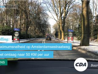 Stemwijzer Baarn stelling over maximumsnelheid Amsterdamsestraatweg