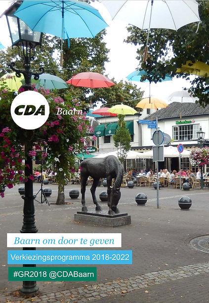 CDA Baarn Verkiezingsprogramma 2018-2022