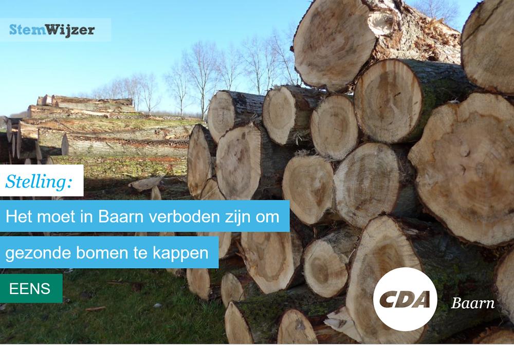 Stemwijzer Baarn verbod bomenkap
