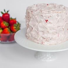 Vegan Strawberry and Cream Cake
