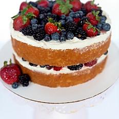 Mixed Berries Almond Cake
