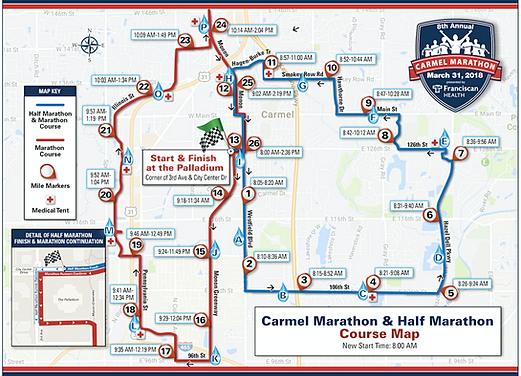 Carmel Marathon Course Maps