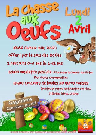 Afin de célébrer les fêtes de Pâques, le Comité des fêtes en partenariat avec le sou des écoles orga