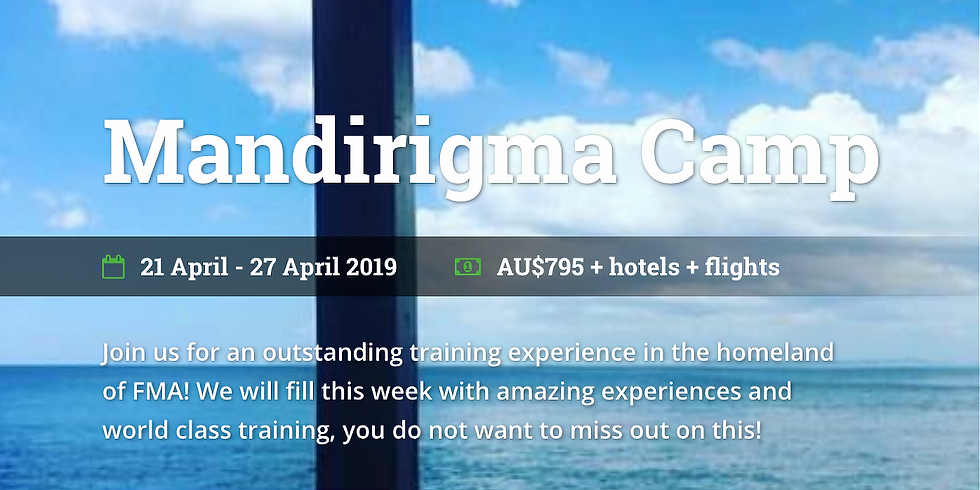 Mandirigma Camp 2019 Come and join us!