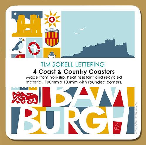 Coasters x4 Bamburgh