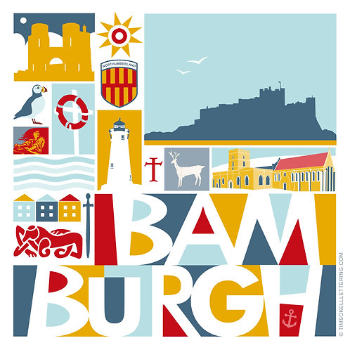 Card x6 / North East Coast & Country / Bamburgh