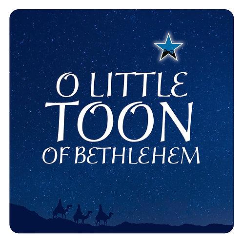 Christmas Card / O Little Toon of Bethlehem x 6
