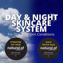 100% Natural Day & Night Skincare System for Dry, Itchy or Irritated Skin Conditions