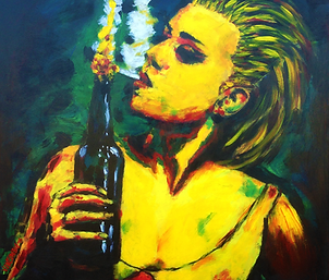 Molotov | Acrylic Painting by Jarris Vonzombie