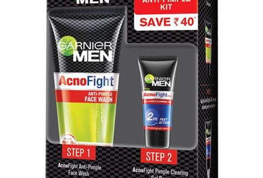 Garnier Men Acno Fight Anti-Pimple kit (50g + 10g)