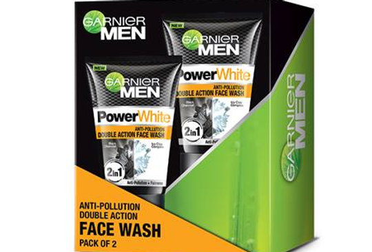 Garnier Men Anti-Pollution Double Action Face Wash Pack of 2 (100g+100g)