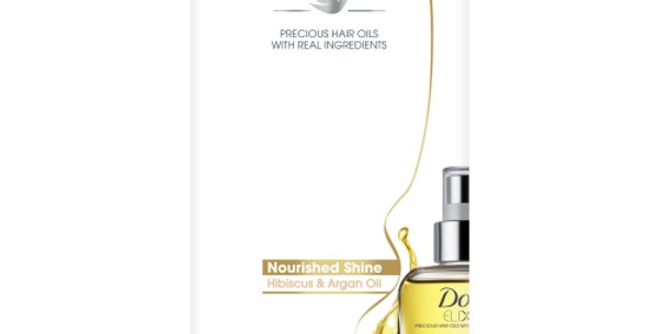 Dove Elixir Nourished Shine Hair Oil 90ml