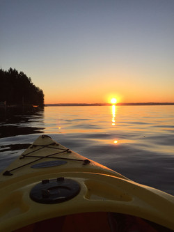 November Kayak Sunset